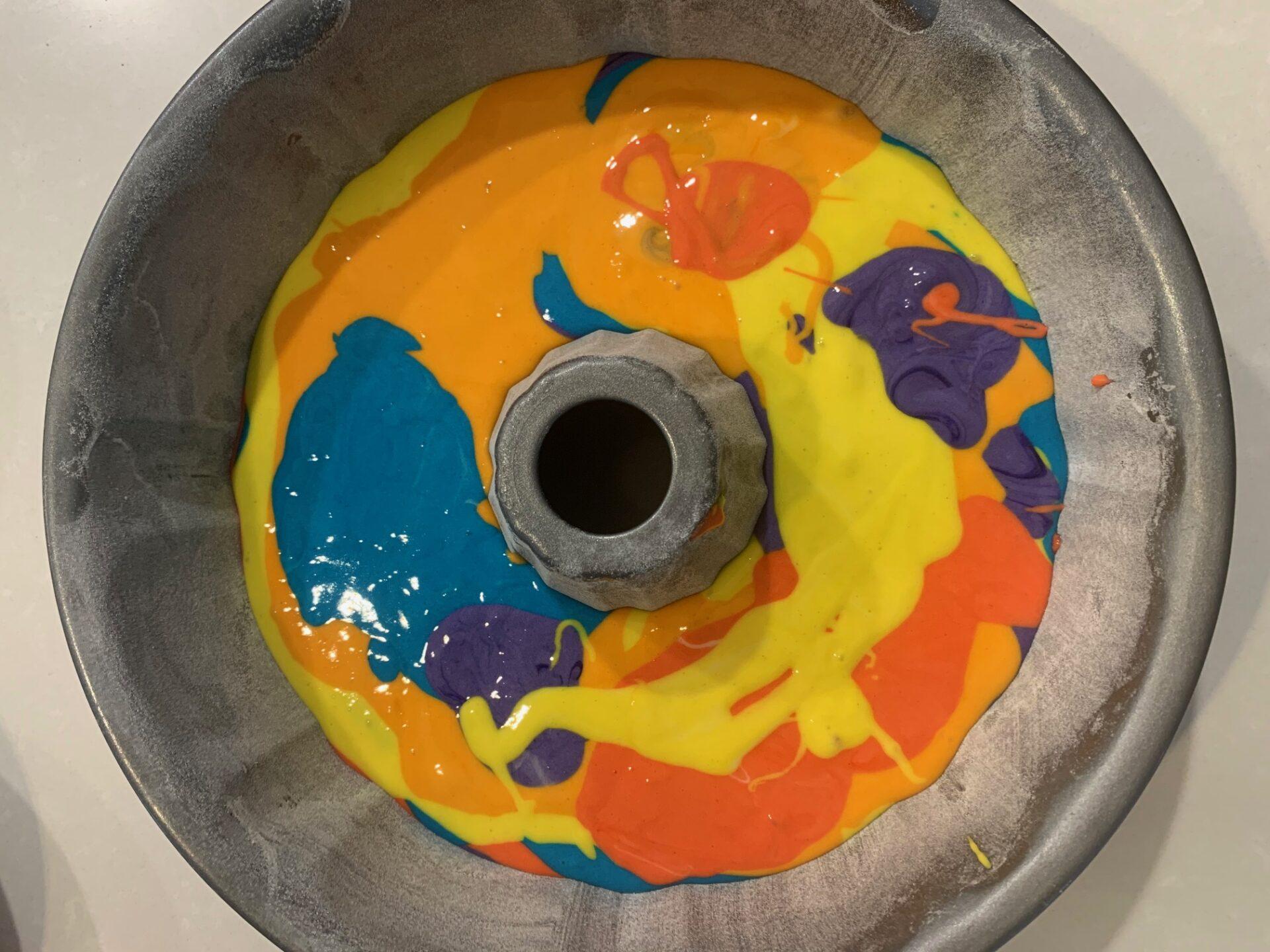 gâteau de couleurs