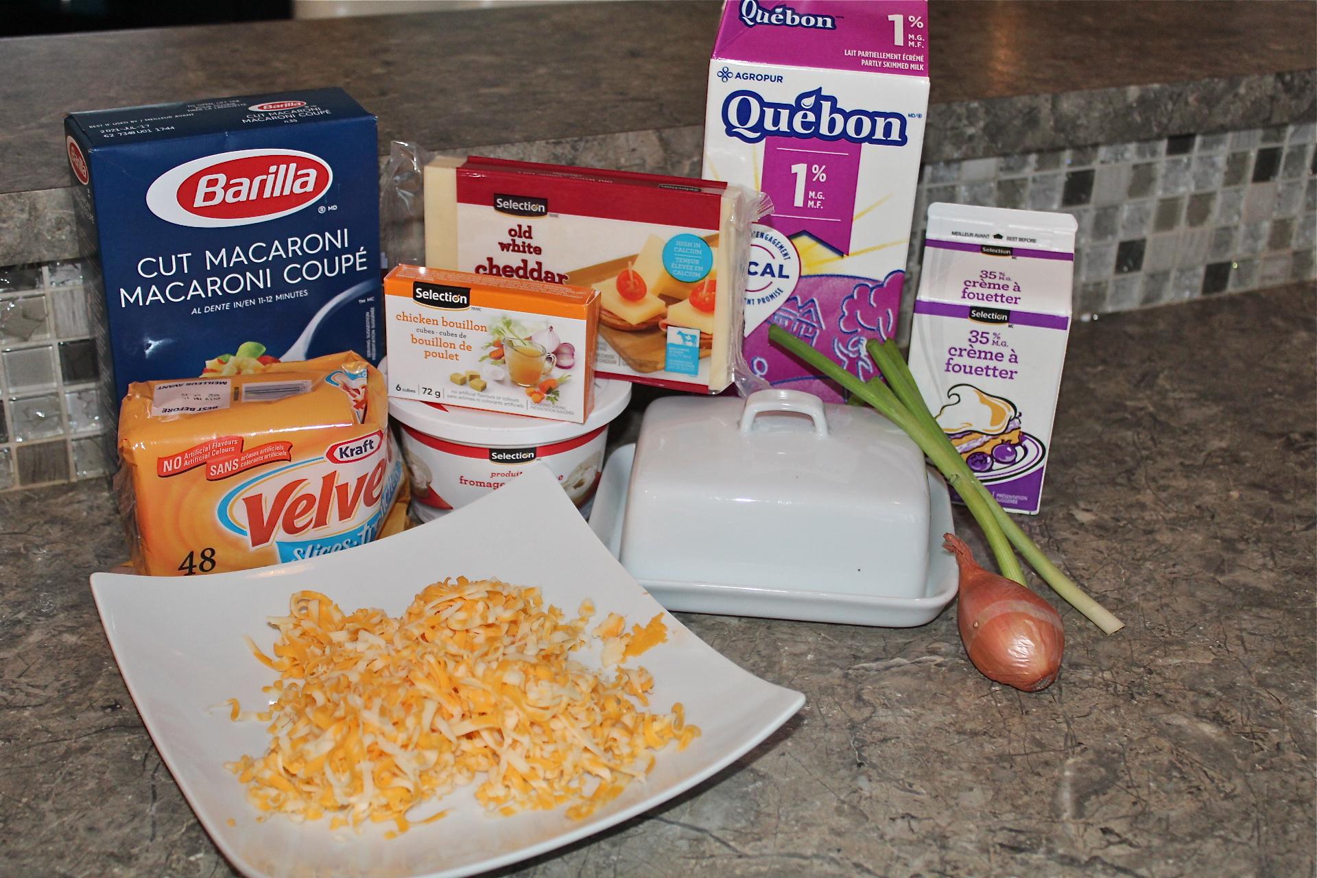 ingrédients macaroni