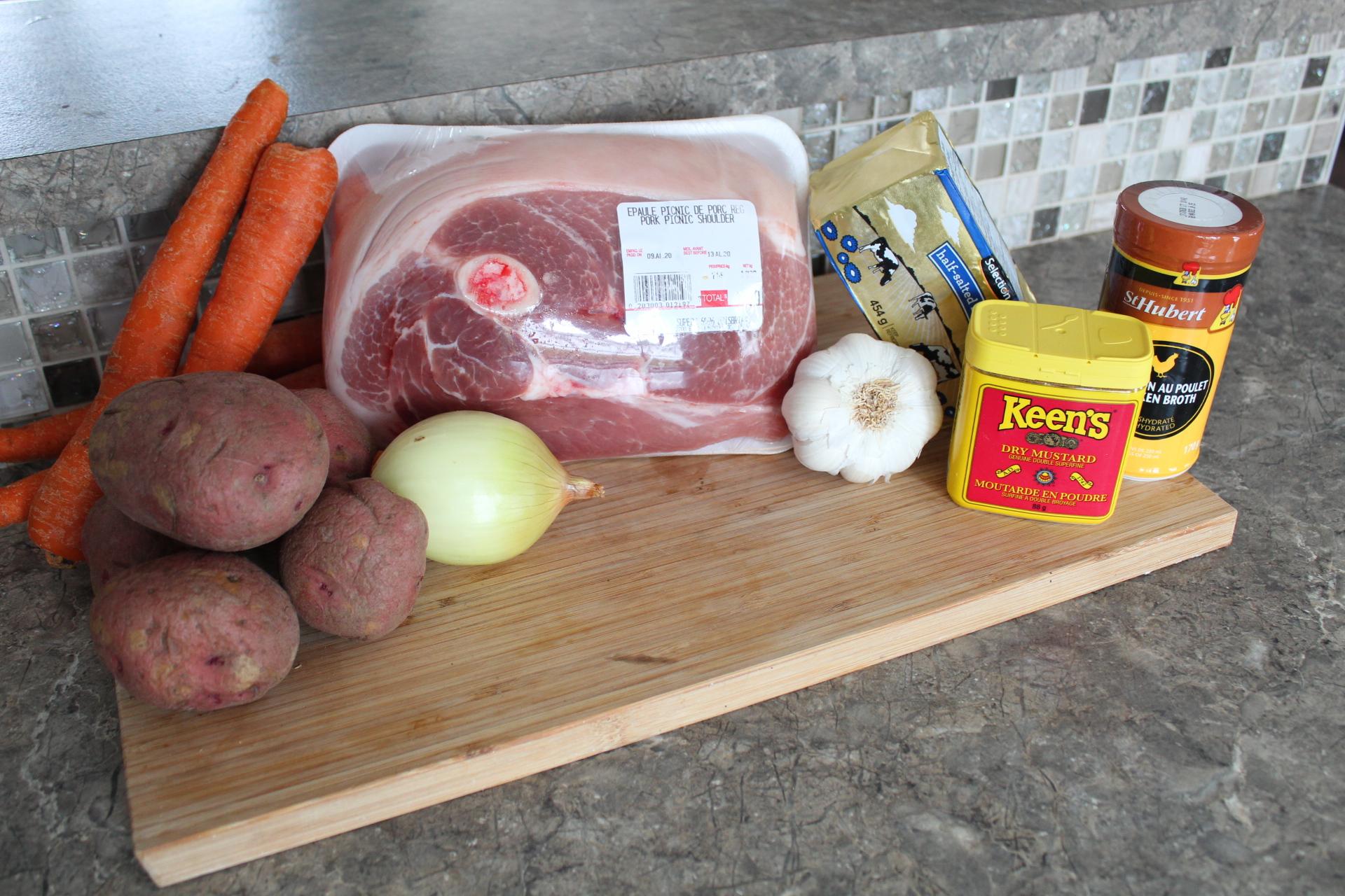 ingrédients rôti de porc