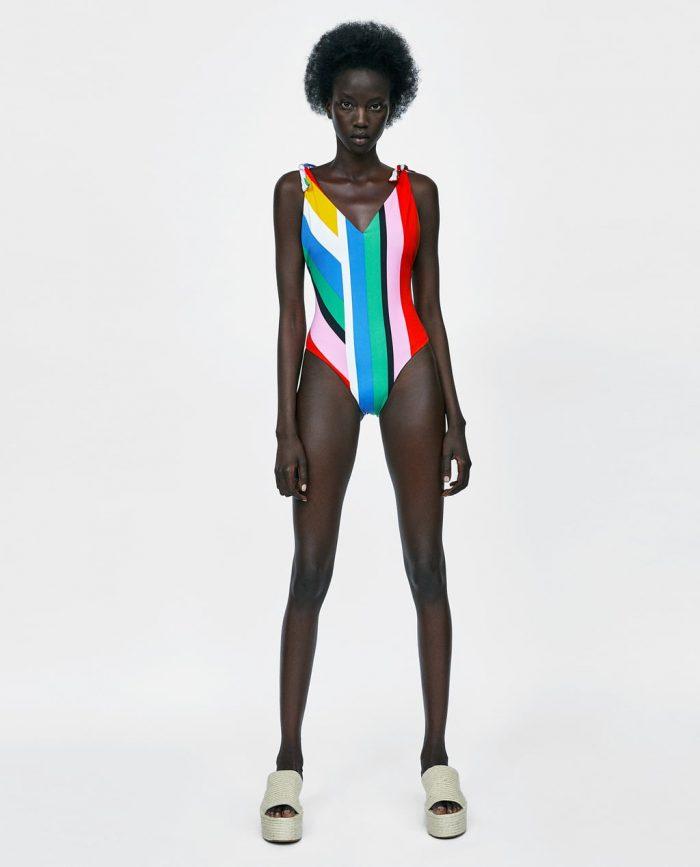 maillot de bain imprimé ethnique