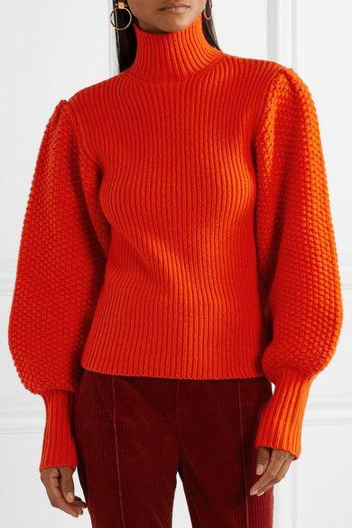 chandail laine orange