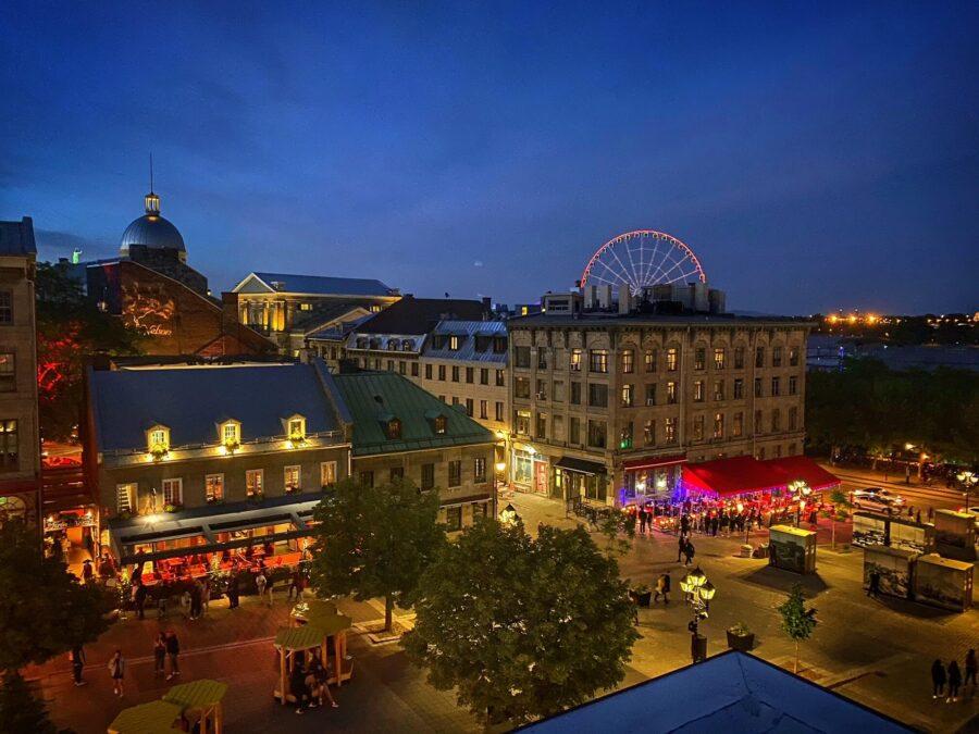 la plus belle terrasse du Vieux-montreal