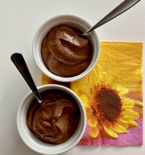 glace chocolat et bananee