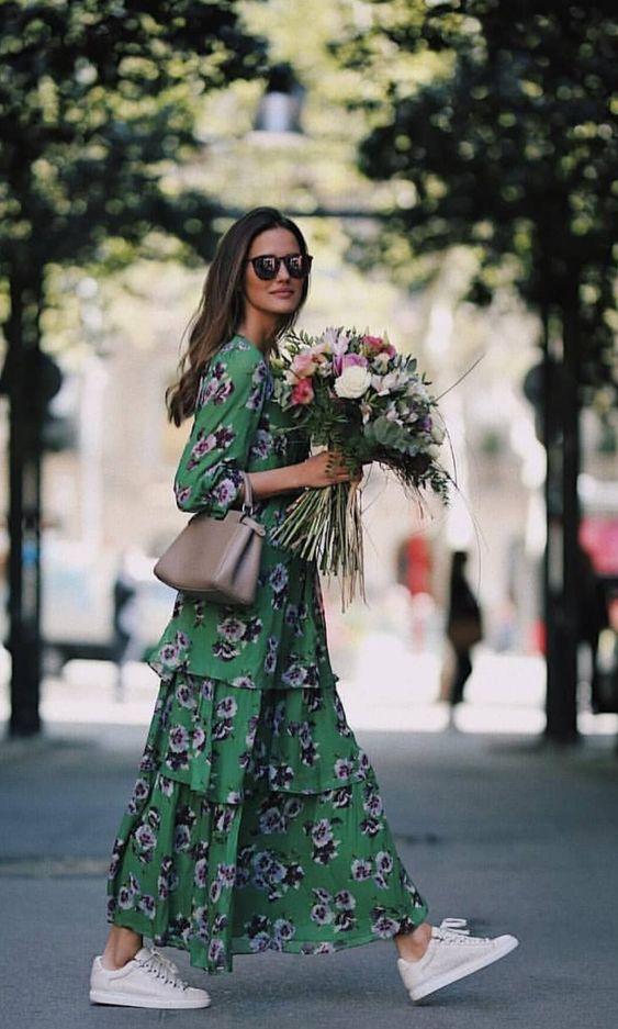 robe à imprimé fleuri
