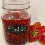 recette de confitures de fraises rôties